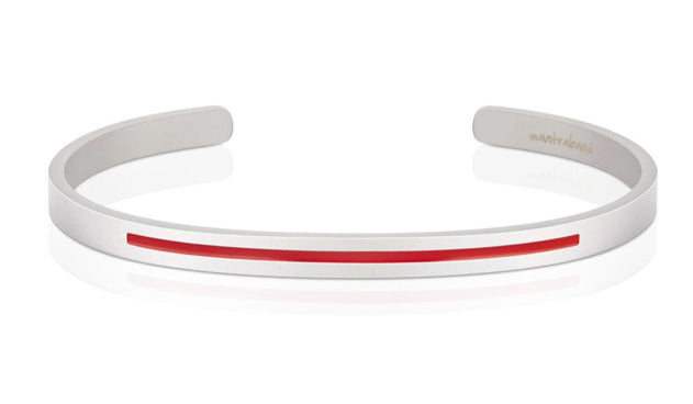 Fire Hero-Charity Band-Bold-Mantraband-Matte Silver