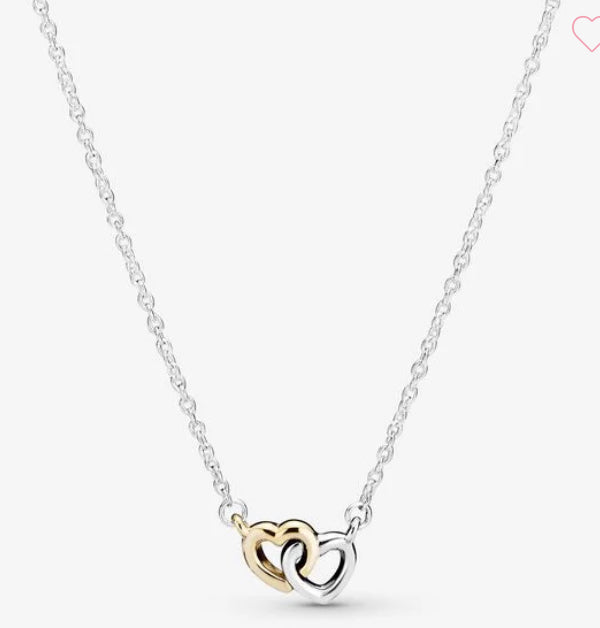 Interlocked Hearts Collier Necklace-Pandora