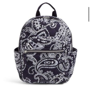 Iconic Small Backpack-Deep Night Paisley Neutral-Vera Bradley