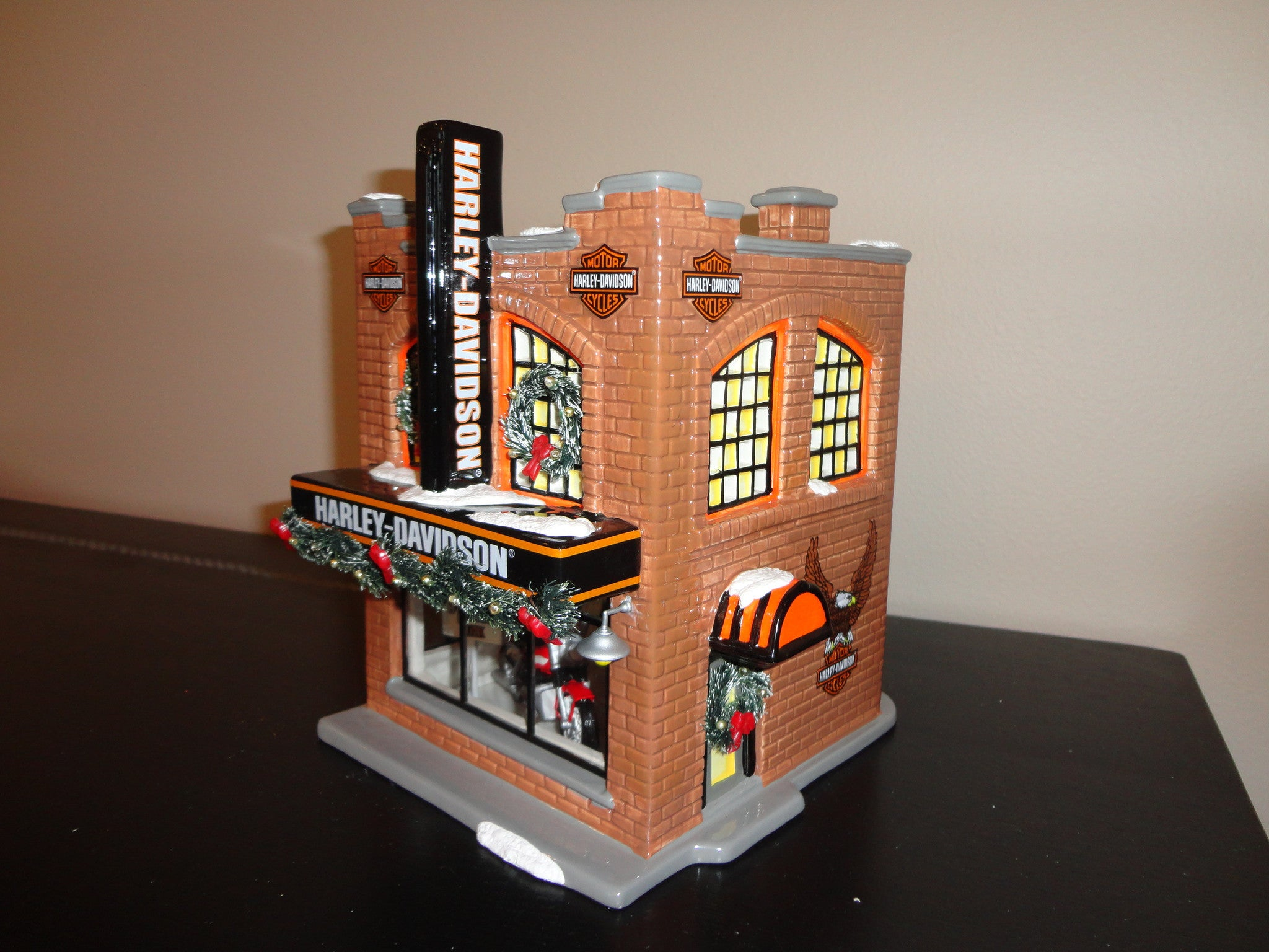 Department 56 Harley Davidson Snow Village - Red Barn Company Store