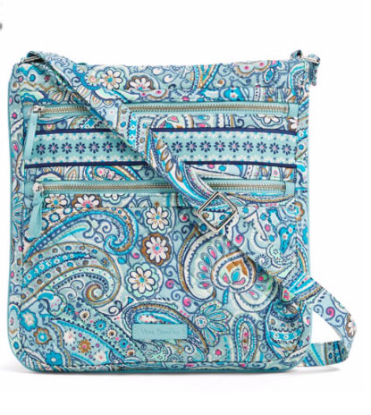 fb40c3dd438 Vera Bradley - Iconic Triple Zip Hipster - Daisy Dot Paisley - Red ...