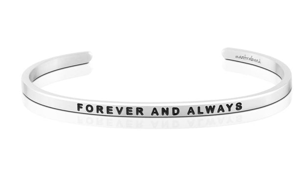 Forever and Always-Mantraband-Silver
