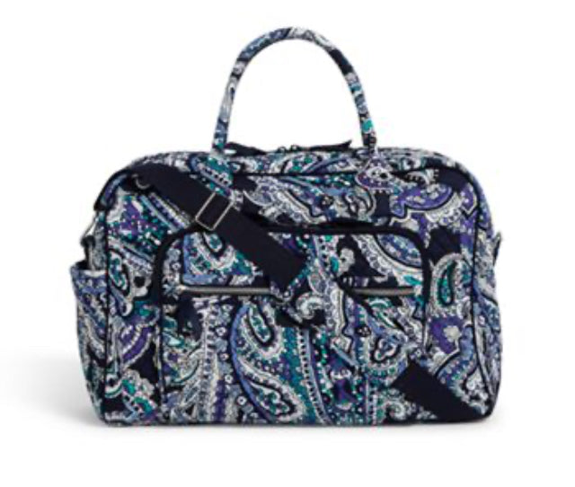 Iconic Weekender Travel Bag-Deep Night Paisley-Vera Bradley