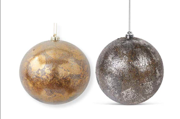 Assorted Silver and Bronze Shatterproof Ornament