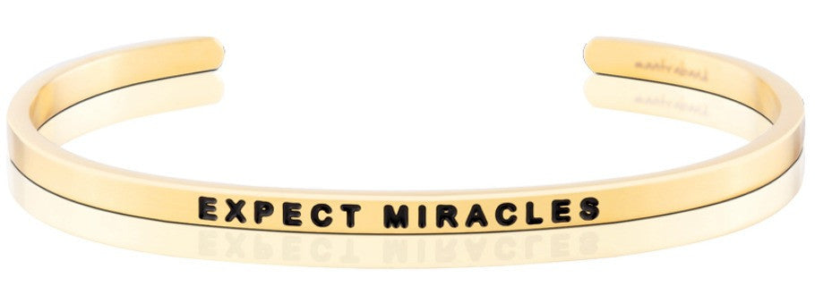 Expect Miracles - MantraBand - 18K Gold  Overlay