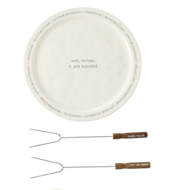 S'More Plate and Skewer Set