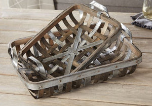 Woven Wood Nested Tray