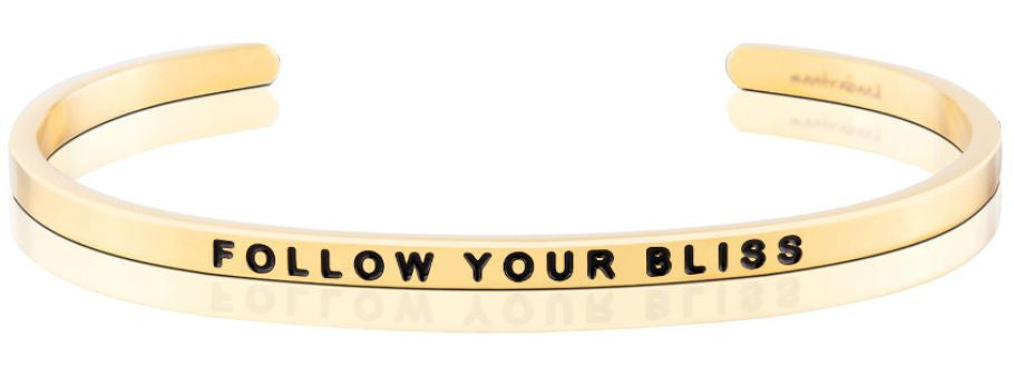 Follow Your Bliss - MantraBand - 18K Gold Overlay