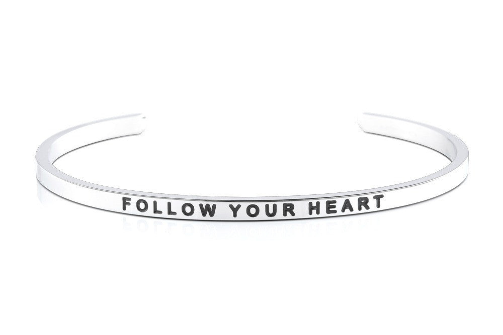 Follow Your Heart - MantraBand - Silver