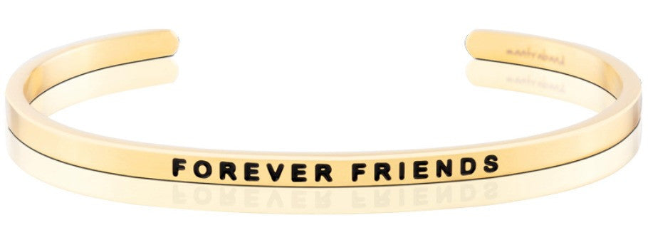 Forever Friends - MantraBand - 18K Gold Overlay
