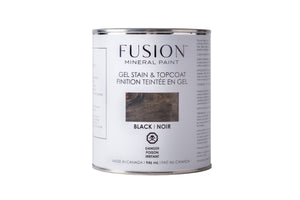 Fusion-Gel Stain and Top Coat-Black-946ml