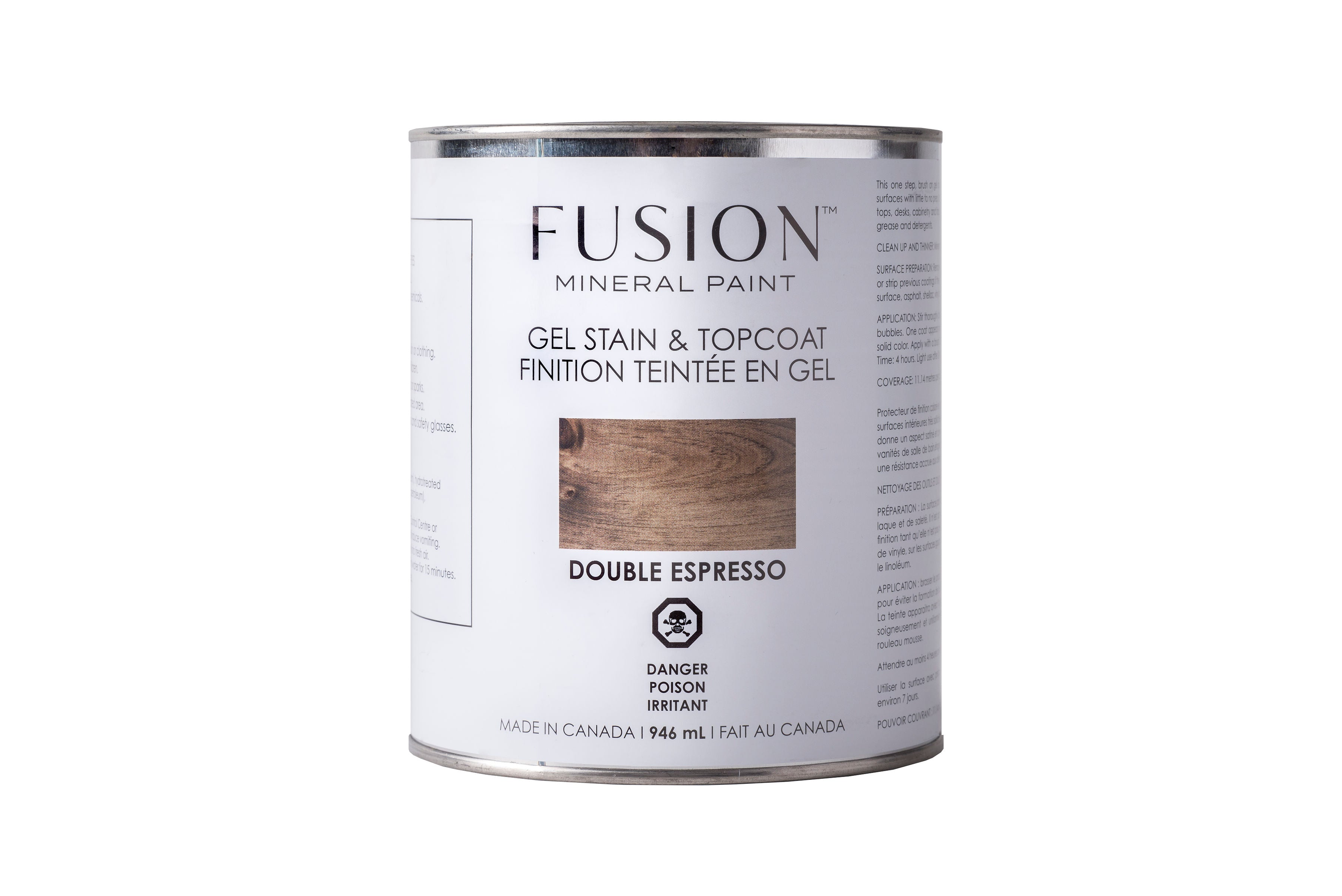 Fusion-Gel Stain and Top Coat-Double Espresso-946ml