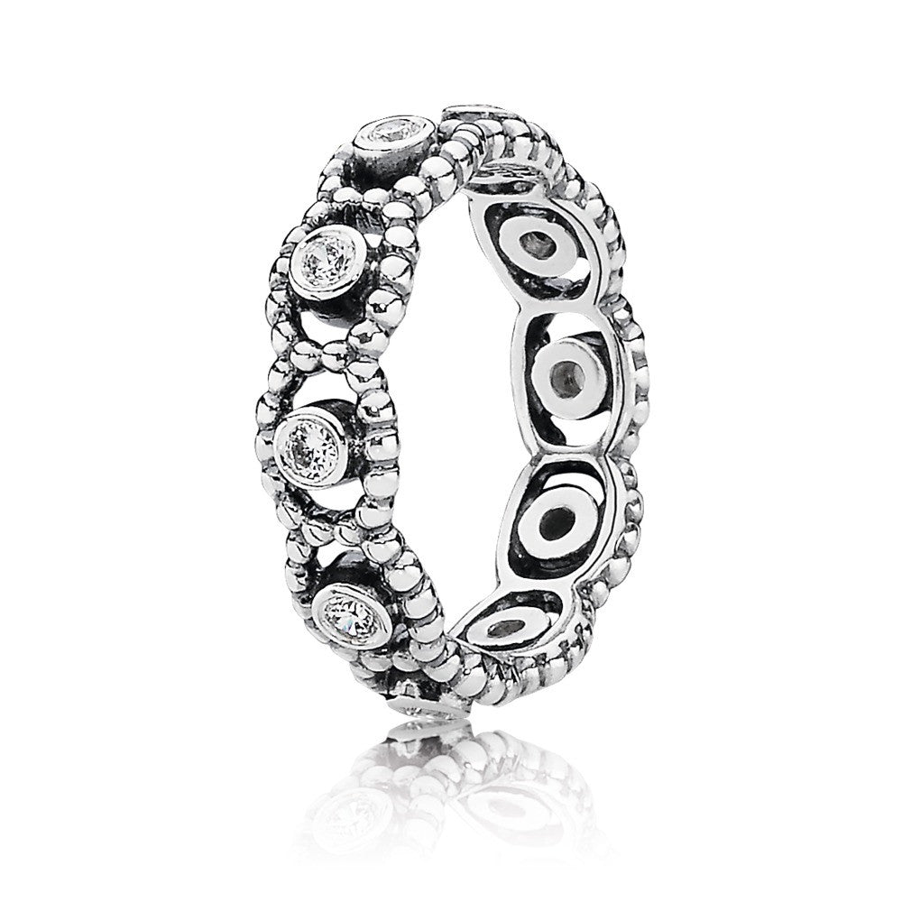 Her Majesty Ring - Sterling Silver with Clear CZ - PANDORA - 190881CZ