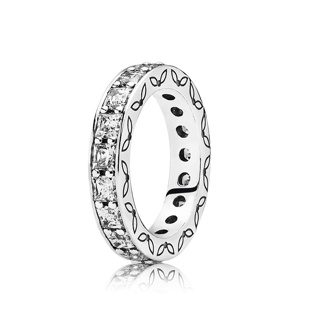 Infinity Ring - Sterling Silver with Clear CZ - PANDORA - 190894CZ