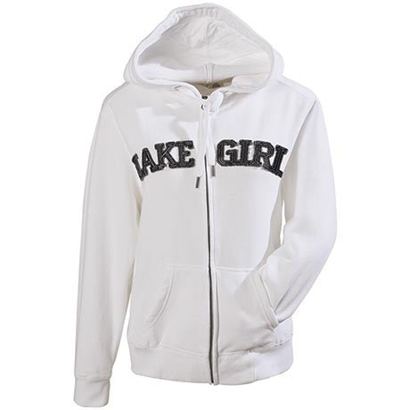 Lake girl Full Zip Hoodie - White