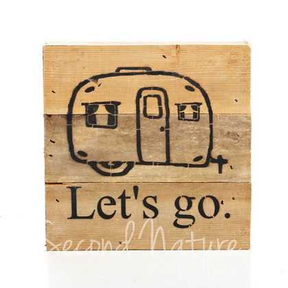deb9bf563 Let s Go (with Camper Graphic) - Painted Sign - 6X6