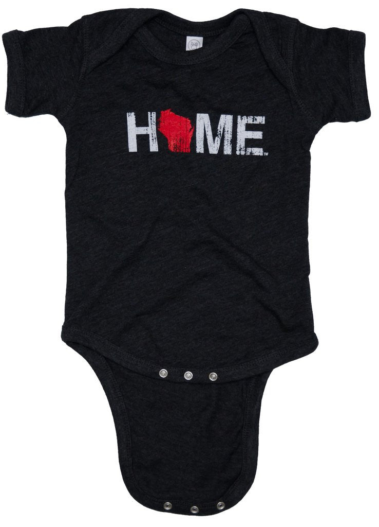 Wisconsin Home Onesie - My State Threads