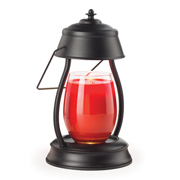 Hurricane Candle Warmer Lantern - Black