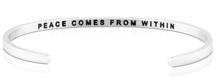 Peace Comes from Within - MantraBand - Silver