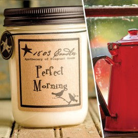 1803 Candles- 14oz Jar - Perfect Morning