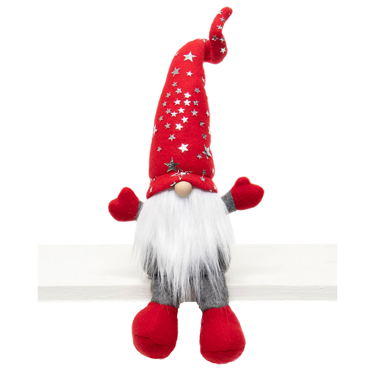 GNOME WITH SHINY STAR WIRED HAT 17""