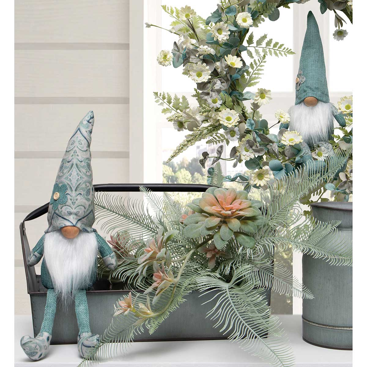 "CHATEAUX BOYS GNOME WITH HAT, WOOD NOSE, WHITE BEARD 15""(2 Styles Sold Separately)"