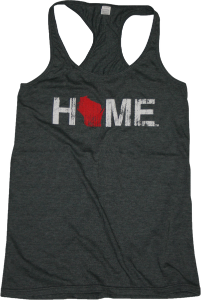 4eea69ec4973f WI Home Ladies  Racerback Tank - Red White - Charcoal - My State Threads