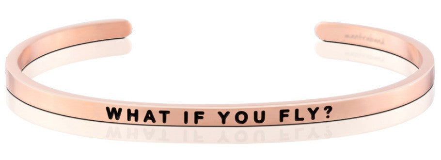 What If You Fly - MantraBand - 18K Rose Gold Overlay