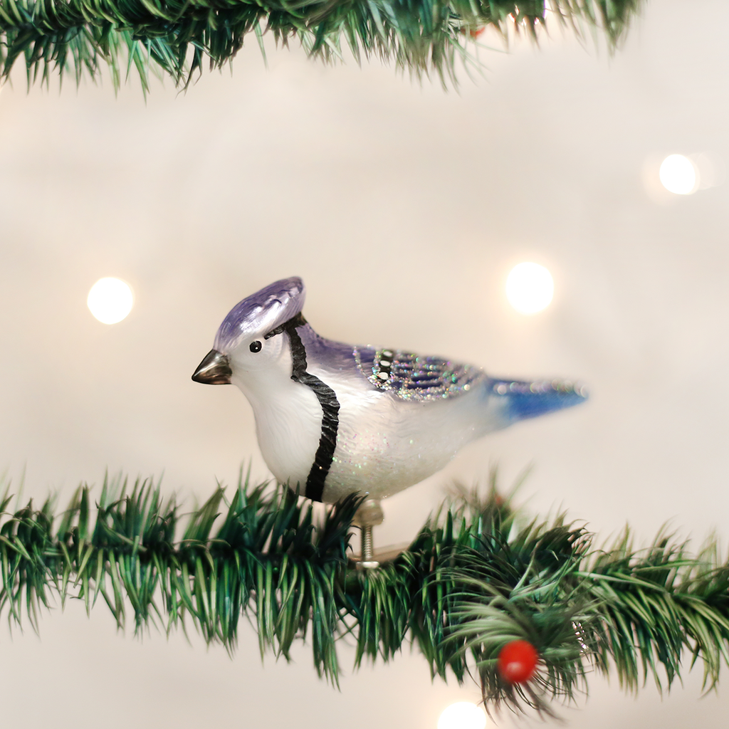 Stylized Blue Jay Ornament - Old World Christmas