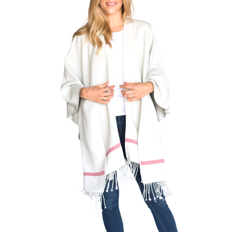 Pearl with Stripes Travel Wrap - with Pockets - Mer-Sea   Co. 109ae31da