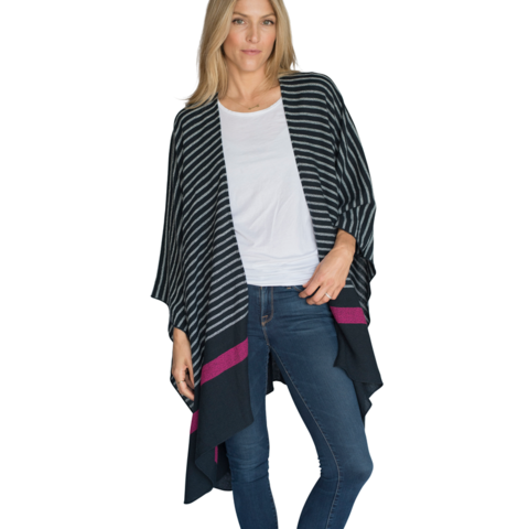 Navy Thinny Traveler Wrap - with Travel Bag - Mer-Sea   Co. 93a4744c3