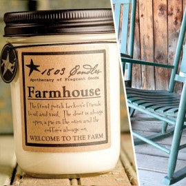 1803 Candles- 14oz Jar - Farmhouse