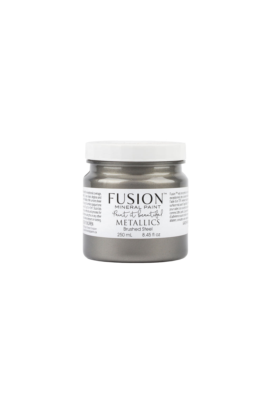 Fusion Mineral Paint-Metallics Brushed Steel