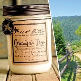 1803 Candles- 14oz Jar - Grandpa's Trees