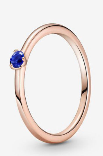Solitaire-Blue Crystal-Pandora Rose
