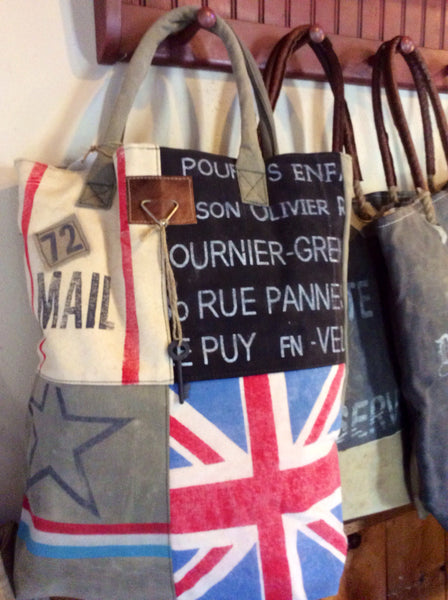 Union Jack Multi With Key Reclaimed Bag Style 9 Red