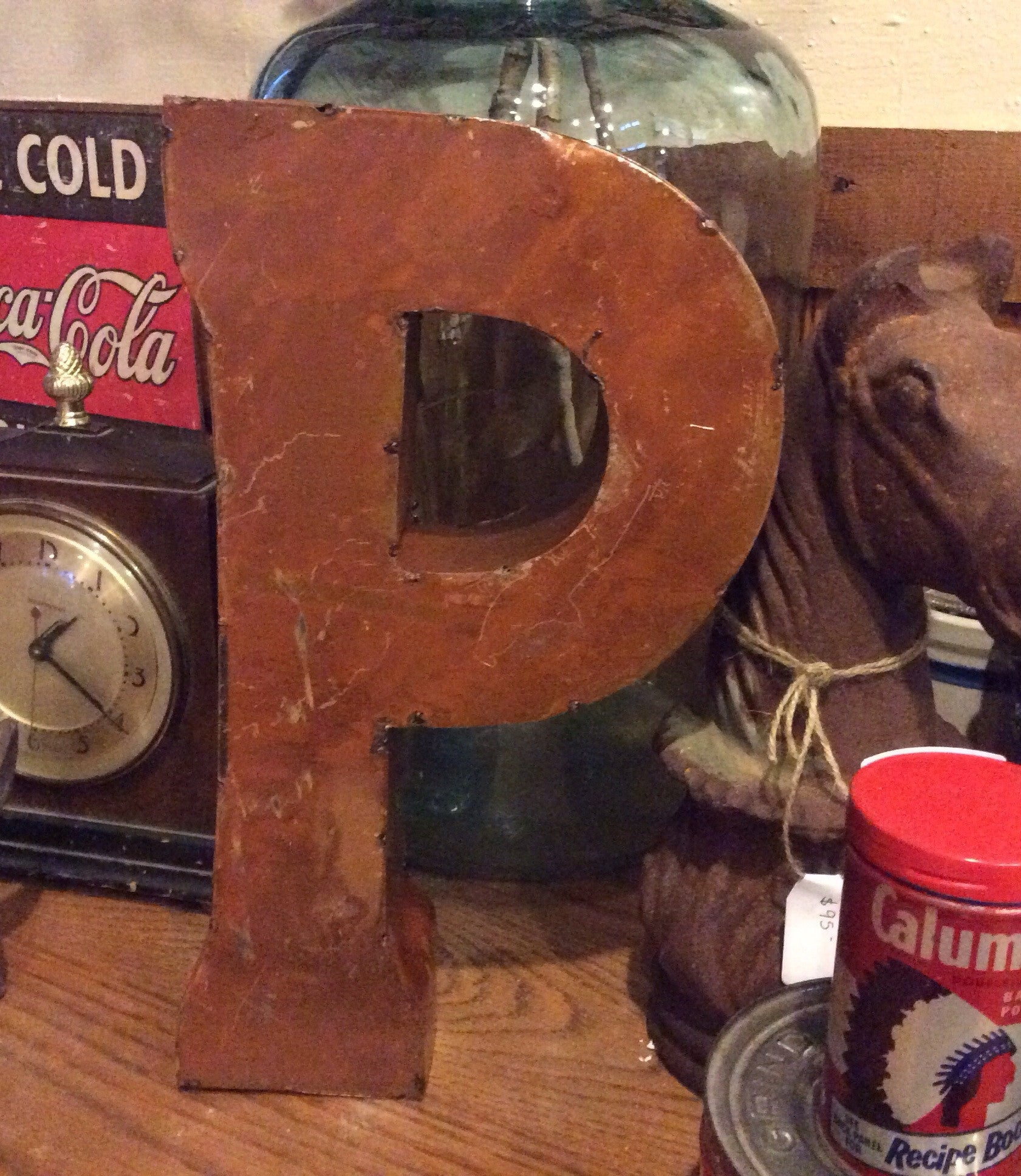 "Metal Letter - 14"" Tall Metal Letter P"