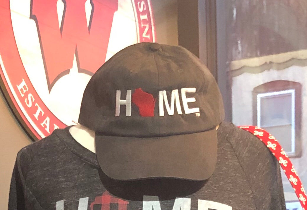 HOME twill hat - My State Threads - Black with Red State 42d34d88770d