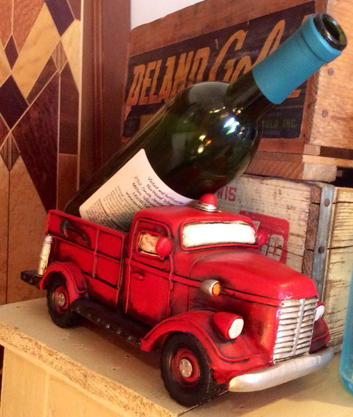 Fire Truck Wine Bottle Holder Red Barn Company Store