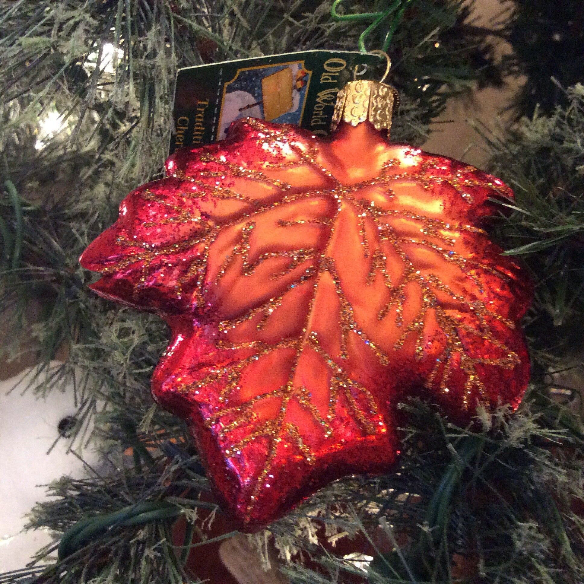 Maple Leaf Ornament - Old World Christmas