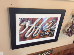 Coffee Shop Print Framed- Local Artist