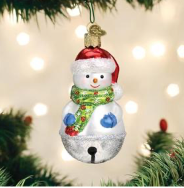 Jingle Bell Snowman Ornament- Old World Christmas