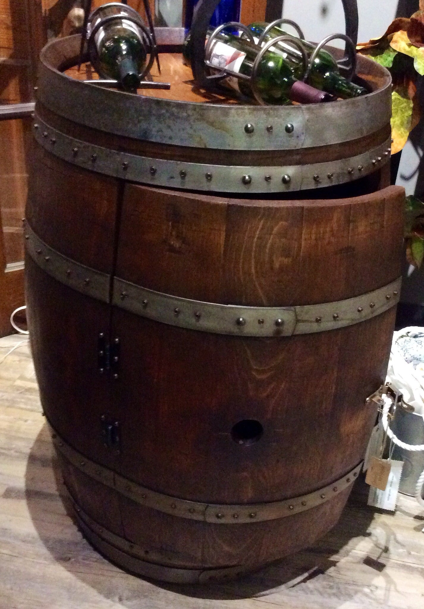 Full Barrel Cabinet On Casters Red Barn Company Store
