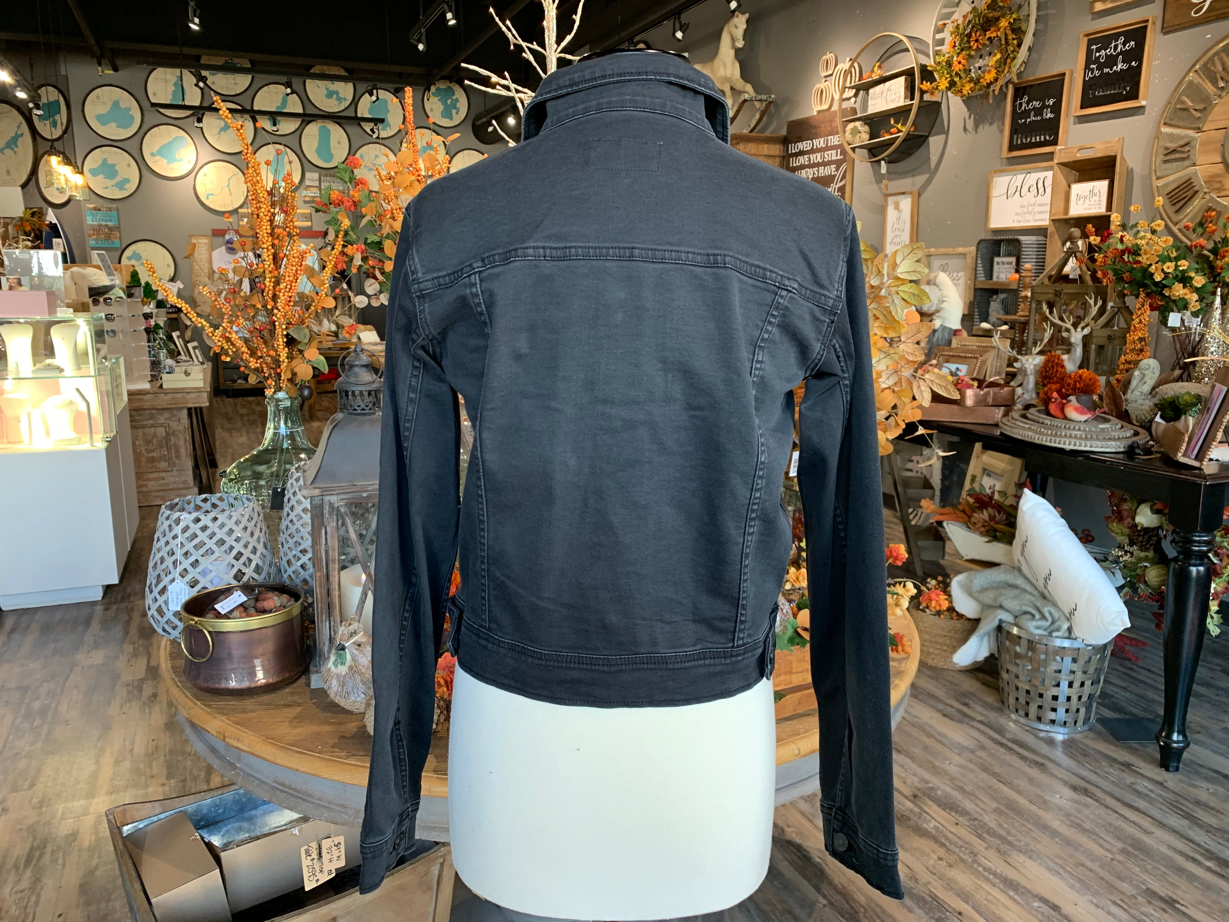 Dark Grey Denim Jacket
