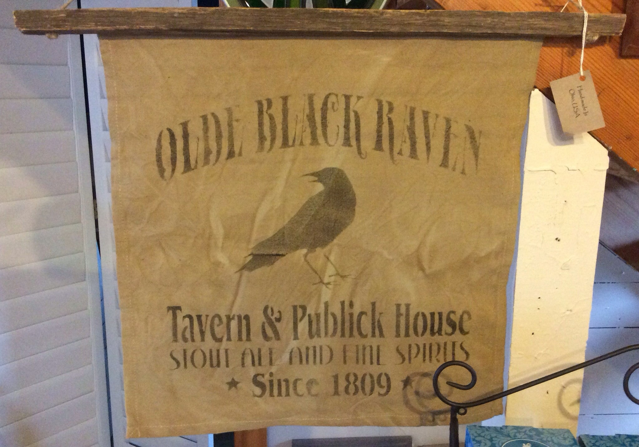 Old Black Raven Wall Hanging- Medium