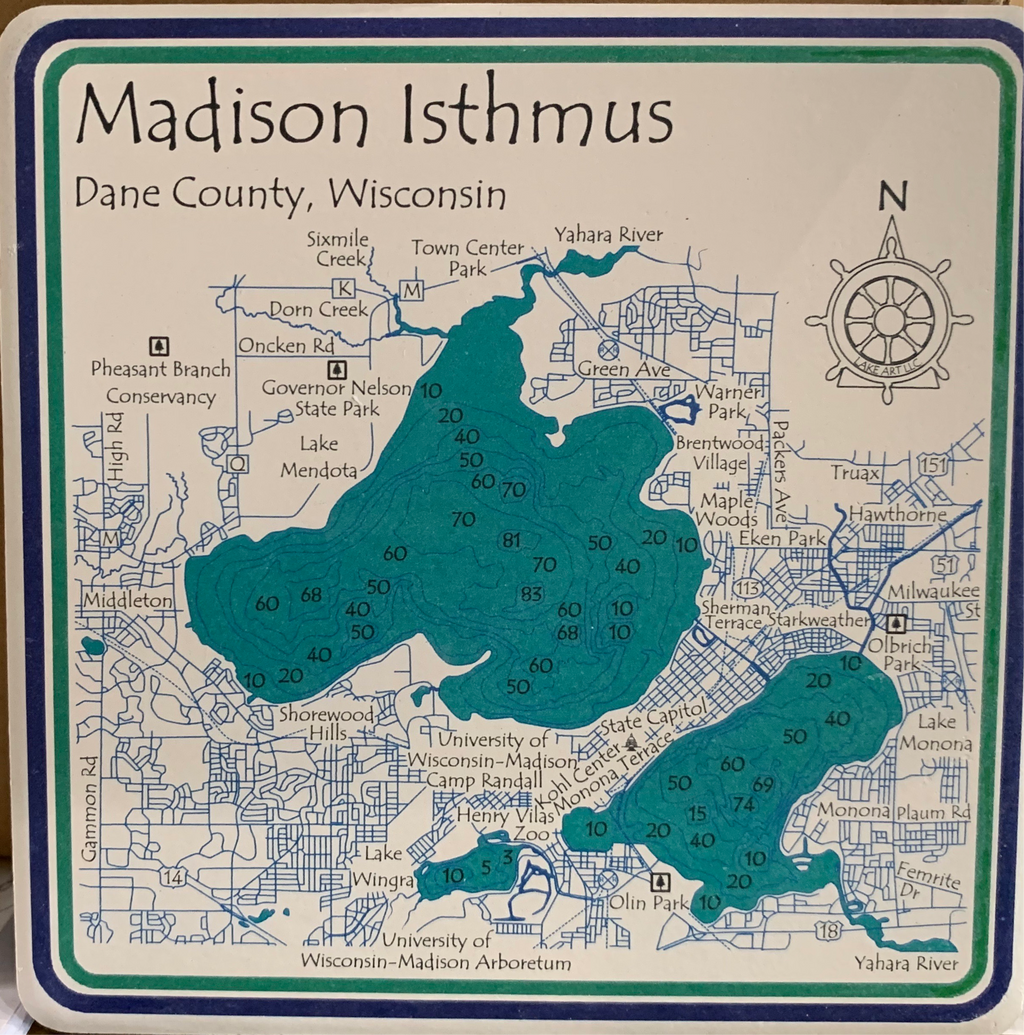 Madison Isthmus Coasters (Set of 4)