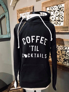 Coffee til cocktails-sweatshirt (Black)