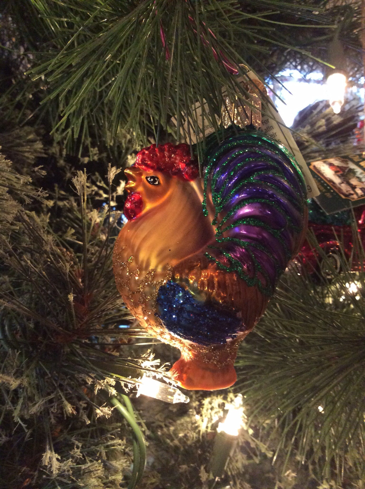 Dad christmas ornament - Rooster Ornament Old World Christmas
