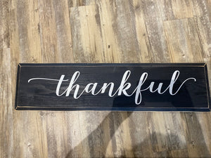 Thankful lowercase t - Painted Sign