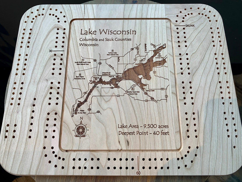 Cribbage Board - Lake Wisconsin - Columbia/Sauk, WI